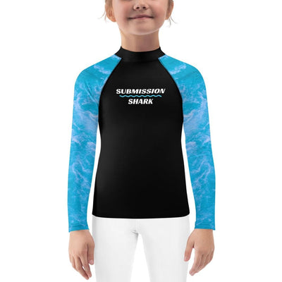 Chiaroscuro Sea ~ Kids Blue BJJ Rash Guard