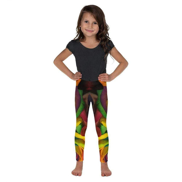 Rainbow Roses Kid's Leggings | Submission Shark Front