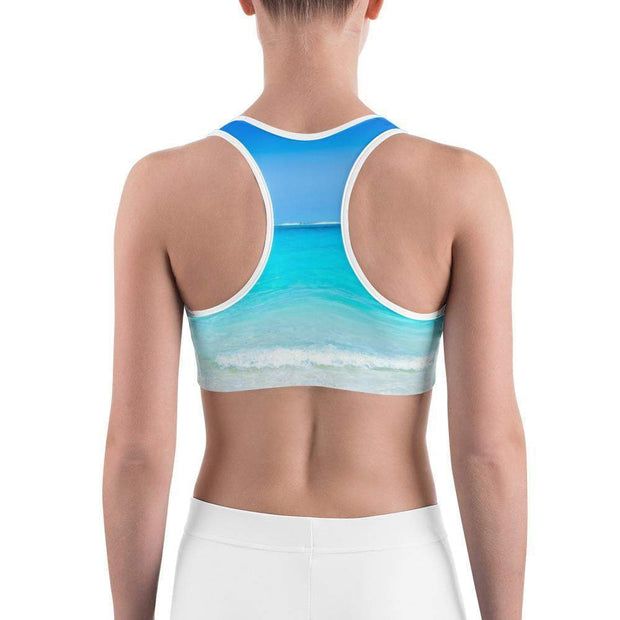 Beach Paradise Sports bra | Submission Shark Back