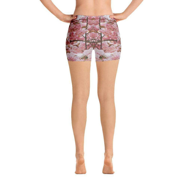 Pink Blossom Sports Shorts | Submission Shark Back