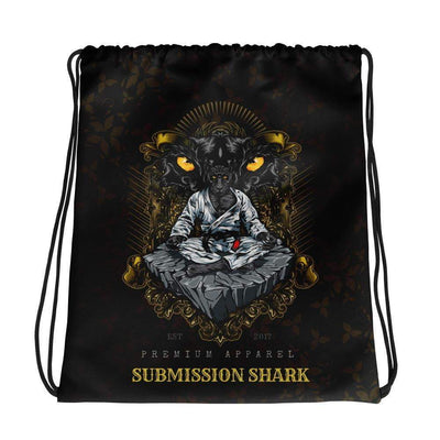 Submission Shark's Black Panther Jiu Jitsu Drawstring Gi bag
