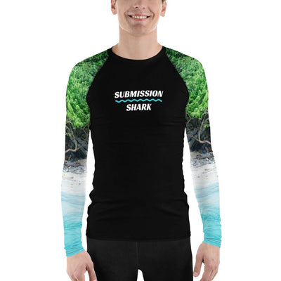 Men's BJJ Rash Guard (Tropical Shores)