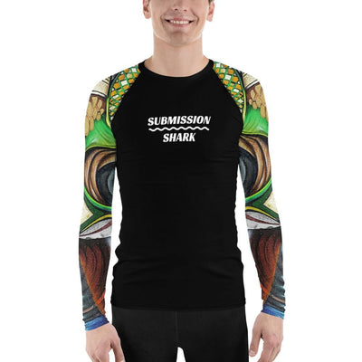 Shop Men's No-Gi BJJ Rash Guard (Colorful Street Art)