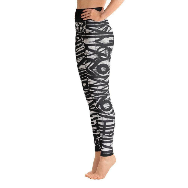 White Noise Yoga Leggings | Submission Shark Left
