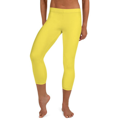 Yellow SS Premium Standard Capri Leggings