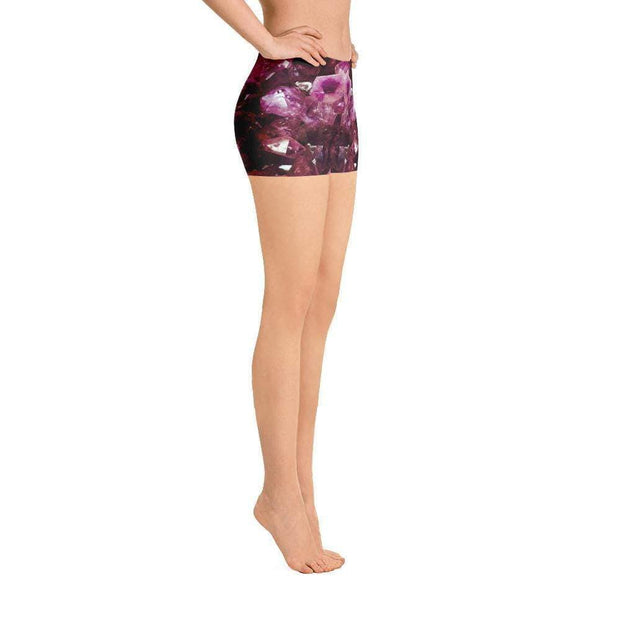 Violet Gemstone Sports Shorts | Submission Shark Right
