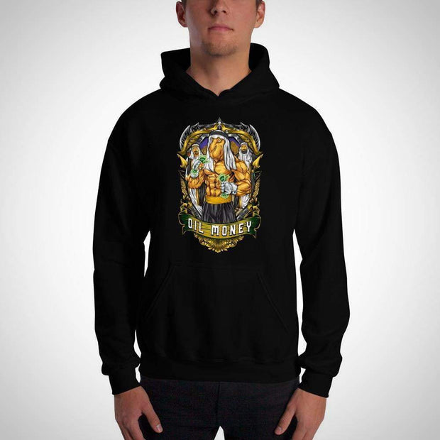 Oil Money Hooded Sweatshirt Submission Shark's MMA Apparel Black