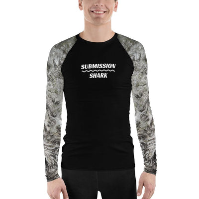 Men's No-Gi BJJ Rash Guard (Silver Whispers)