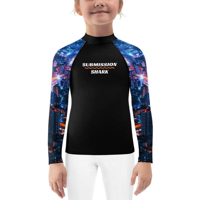 Kids Jiu Jitsu Rash Guard (City Lights)
