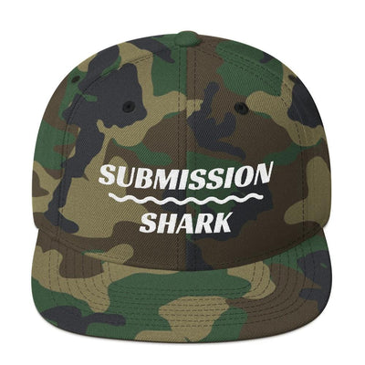 Earth Collection | Camo Snapback Hat | Submission Shark