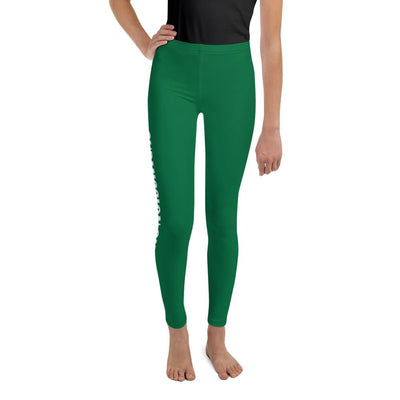 Green SS Premium Standard - Youth BJJ Leggings