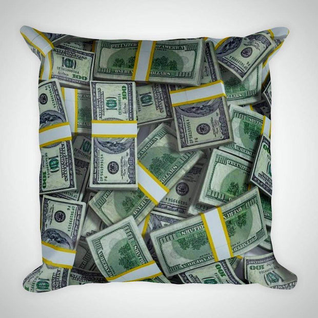 Oil Money Square Pillow