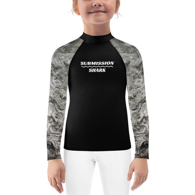 Silver Whispers ~ Kids BJJ Rash Guard