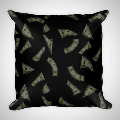 Black Money Raining Currency Pillow Falling Money