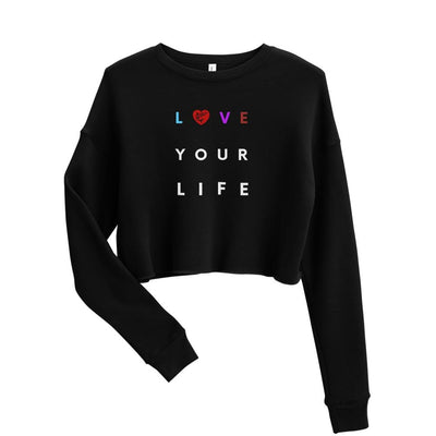 Women's BJJ Crop Sweatshirt (Love Your Life)