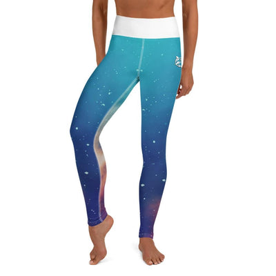 Blue and White High-Waist Leggings (Stardust Love)