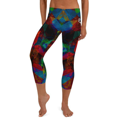 Colorful Different Dimensions No-Gi BJJ Capri Leggings