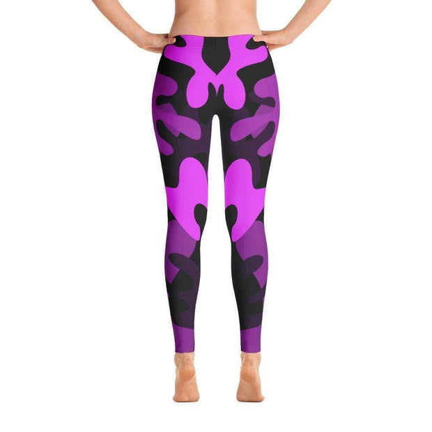 Ranked 1.0 Unisex Compression Pants (Purple) | Submission Shark Spats Back