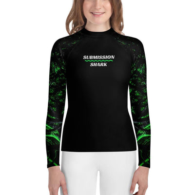 Green Forest Glow - Youth Jiu Jitsu Rash Guard
