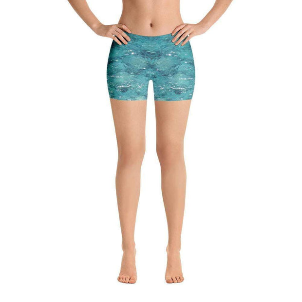 Shallow Shores | Blue Sports Shorts | Submission Shark Front