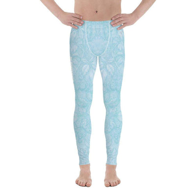 Baby Blue Beauty | Men's Leggings | Submission Shark - tamlifestyle
