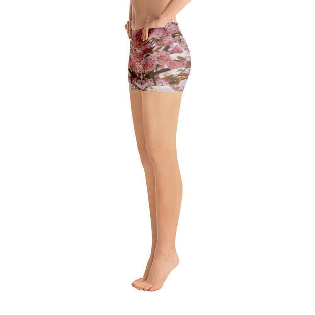 Pink Blossom Sports Shorts | Submission Shark Left
