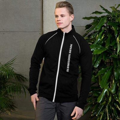Submission Shark's Jiu-Jitsu Lifestyle Piped Fleece Jacket Front