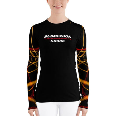Women's BJJ Rash Guard (Electric Flow)