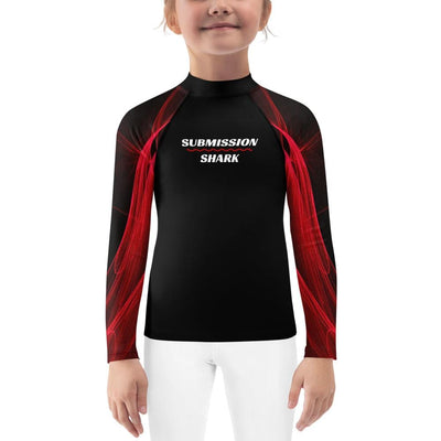 Kids Unisex Jiu Jitsu Rash Guard (Calm Blaze)