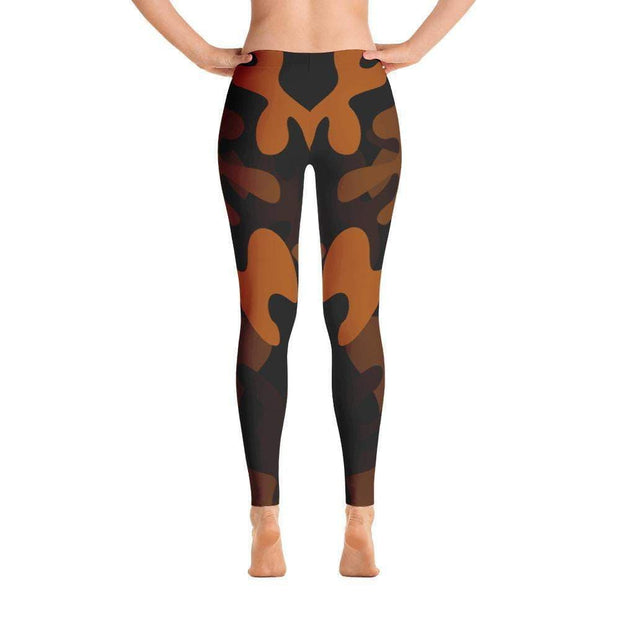 Ranked 1.0 Unisex Compression Pants (Brown) | Submission Shark Spats Back