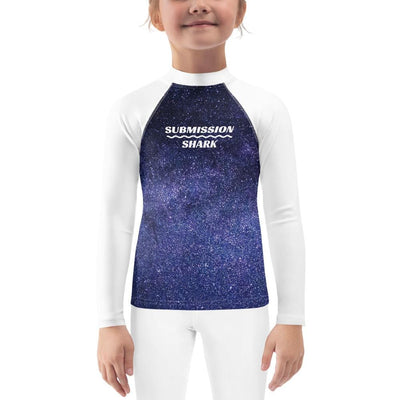 Kid's Purple BJJ Rash Guard (Twilight Void)