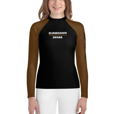 Brown SS Premium Standard - Youth Rash Guard