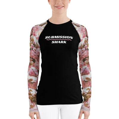 Women's BJJ Rash Guard (Pink Blossom)