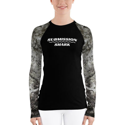 Women's Rash Guard (Silver Whispers) - Submission Shark BJJ Gear