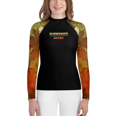 Maple Fall - Unisex Youth Rash Guard (Submission Shark)