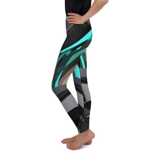 Cyborg Youth Leggings | Submission Shark Left