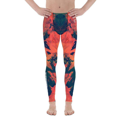 Abstract Azure | Men's Leggings | Submission Shark - tamlifestyle