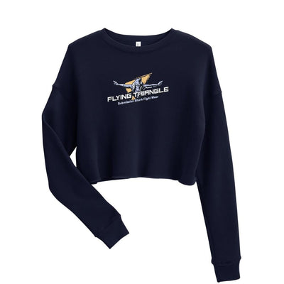Shop Women's Navy BJJ Crop Sweatshirt (Flying Triangle)