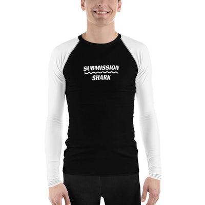 White SS Premium Standard ~ Men's No-Gi BJJ Rash Guard