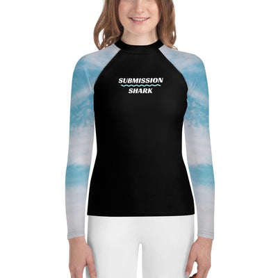 Dream Chaser - White and Blue Youth BJJ Rash Guard