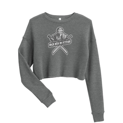 Ninja With An Attitude ~ Silver Crop Sweatshirt