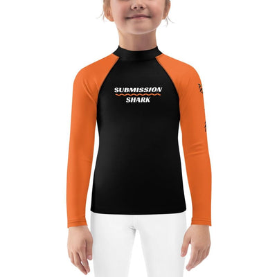 Orange SS Premium Standard Kid's Rash Guard
