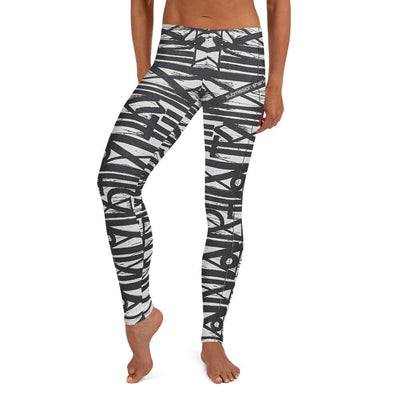 Full Guard BJJ Leggings (White Noise)
