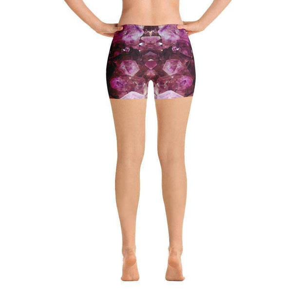 Violet Gemstone Sports Shorts | Submission Shark Back