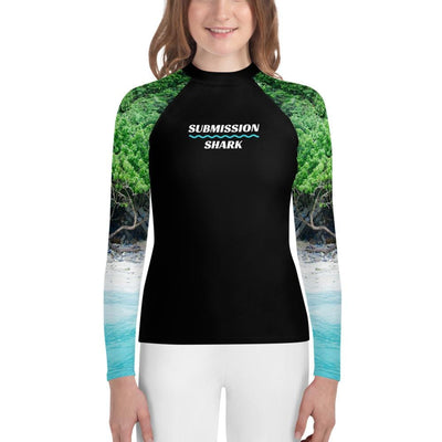 Unisex Youth Jiu Jitsu Rash Guard - Tropical Shores