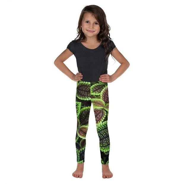 Glowing Growing Green Kid's Leggings | Submission Shark Front