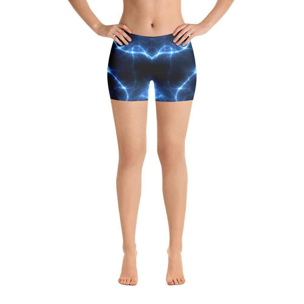 Aquatic Storms | Black & Blue | Sports Shorts | Submission Shark - tamlifestyle