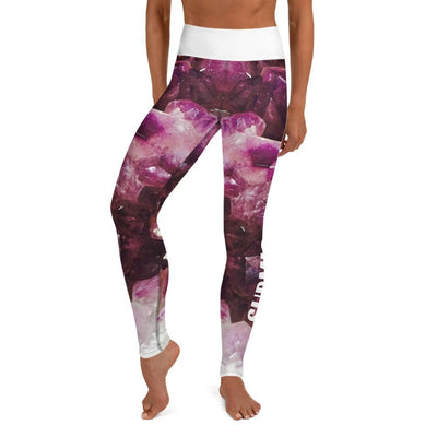 High Waist Leggings (Violet Gemstone)