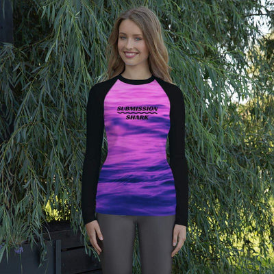 Asphyxiate Hate | Women's Rash Guard | Submission Shark - tamlifestyle