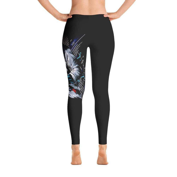 Legendary Shark Frenzy Full Length Leggings Back